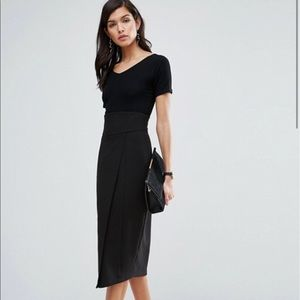 ASOS Wrap Front Pencil Skirt with Corseted Waist 4